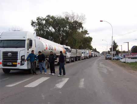 PAro de camiones