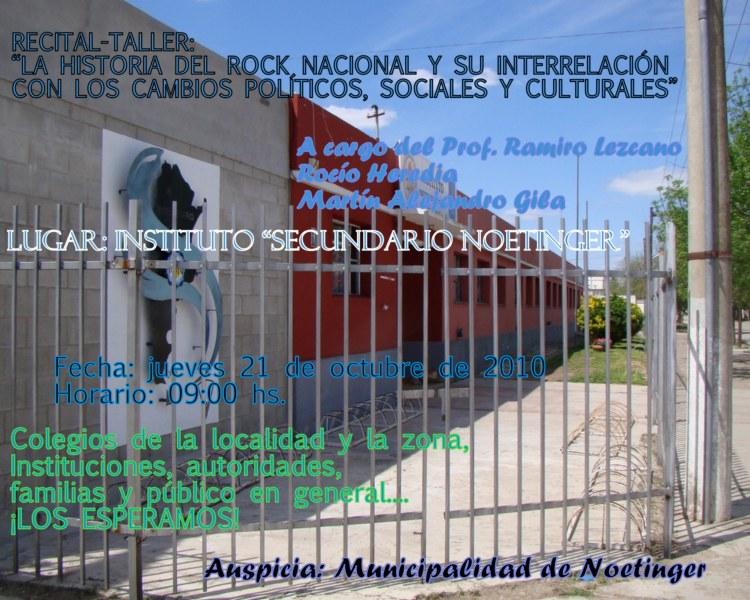 Invitación RECITAL- TALLER ROCK NACIONAL ...