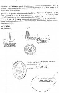 13 julio decreto 2 elecciones 18